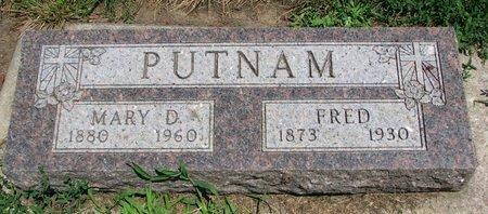 PUTNAM, FRED - Union County, South Dakota | FRED PUTNAM - South Dakota Gravestone Photos