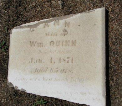 QUINN, ANN (CLOSEUP) - Union County, South Dakota   ANN (CLOSEUP) QUINN - South Dakota Gravestone Photos