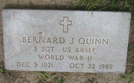 QUINN, BERNARD J. (WORLD WAR II) - Union County, South Dakota | BERNARD J. (WORLD WAR II) QUINN - South Dakota Gravestone Photos