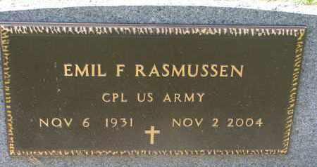 RASMUSSEN, EMIL F. (US ARMY) - Union County, South Dakota   EMIL F. (US ARMY) RASMUSSEN - South Dakota Gravestone Photos