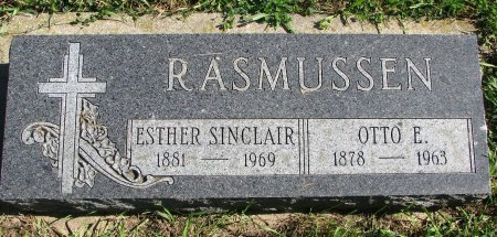 SINCLAIR RASMUSSEN, ESTHER - Union County, South Dakota | ESTHER SINCLAIR RASMUSSEN - South Dakota Gravestone Photos