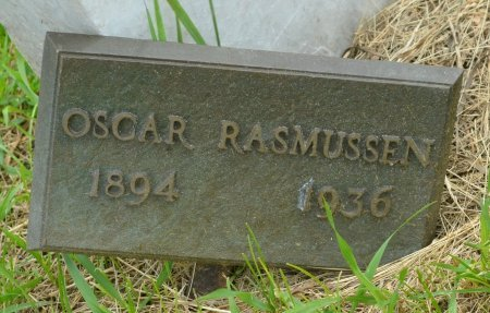 RASMUSSEN, OSCAR B. (CLOSE UP) - Union County, South Dakota | OSCAR B. (CLOSE UP) RASMUSSEN - South Dakota Gravestone Photos