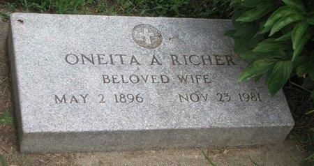 RICHER, ONEITA A. - Union County, South Dakota | ONEITA A. RICHER - South Dakota Gravestone Photos