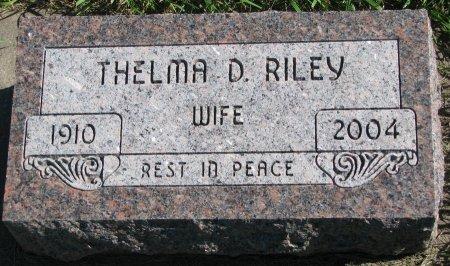 RILEY, THELMA D. - Union County, South Dakota | THELMA D. RILEY - South Dakota Gravestone Photos