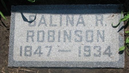 ROBINSON, SALINA R. - Union County, South Dakota | SALINA R. ROBINSON - South Dakota Gravestone Photos