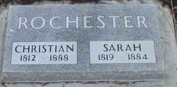 ROCHESTER, SARAH - Union County, South Dakota   SARAH ROCHESTER - South Dakota Gravestone Photos