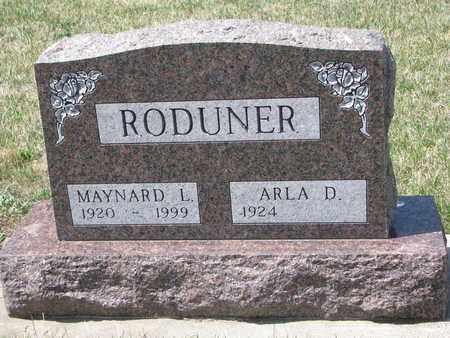 RODUNER, MAYNARD L. - Union County, South Dakota | MAYNARD L. RODUNER - South Dakota Gravestone Photos