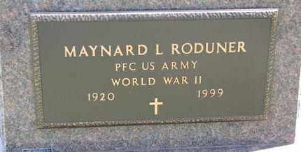 RODUNER, MAYNARD L. (WORLD WAR II) - Union County, South Dakota | MAYNARD L. (WORLD WAR II) RODUNER - South Dakota Gravestone Photos