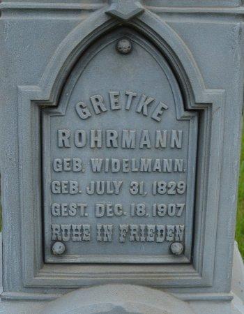 ROHRMANN, GRETKE (CLOSE UP) - Union County, South Dakota | GRETKE (CLOSE UP) ROHRMANN - South Dakota Gravestone Photos