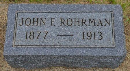 ROHRMAN, JOHN F. - Union County, South Dakota | JOHN F. ROHRMAN - South Dakota Gravestone Photos