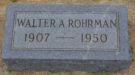 ROHRMAN, WALTER A. - Union County, South Dakota | WALTER A. ROHRMAN - South Dakota Gravestone Photos