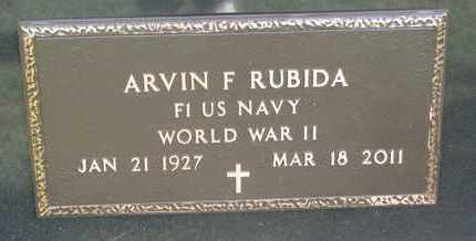 RUBIDA, ARVIN FRANCIS (WORLD WAR II) - Union County, South Dakota | ARVIN FRANCIS (WORLD WAR II) RUBIDA - South Dakota Gravestone Photos