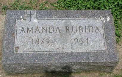 RUBIDA, AMANDA - Union County, South Dakota | AMANDA RUBIDA - South Dakota Gravestone Photos