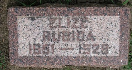 RUBIDA, ELIZE - Union County, South Dakota | ELIZE RUBIDA - South Dakota Gravestone Photos