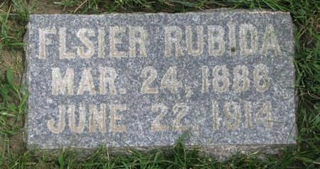 RUBIDA, FLSIER - Union County, South Dakota | FLSIER RUBIDA - South Dakota Gravestone Photos