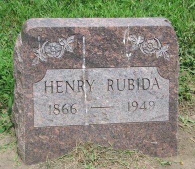 RUBIDA, HENRY - Union County, South Dakota | HENRY RUBIDA - South Dakota Gravestone Photos