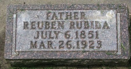 RUBIDA, REUBEN - Union County, South Dakota | REUBEN RUBIDA - South Dakota Gravestone Photos