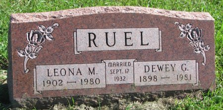 RUEL, LEONA M. - Union County, South Dakota | LEONA M. RUEL - South Dakota Gravestone Photos