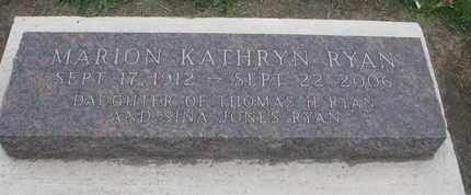 RYAN, MARION KATHRYN - Union County, South Dakota   MARION KATHRYN RYAN - South Dakota Gravestone Photos