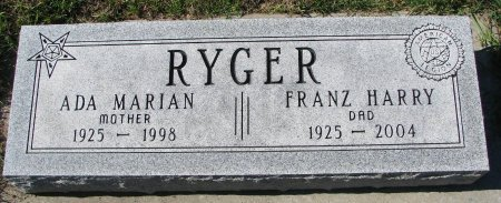 RYGER, ADA MARIAN - Union County, South Dakota | ADA MARIAN RYGER - South Dakota Gravestone Photos