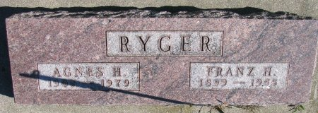 RYGER, FRANZ H. - Union County, South Dakota | FRANZ H. RYGER - South Dakota Gravestone Photos