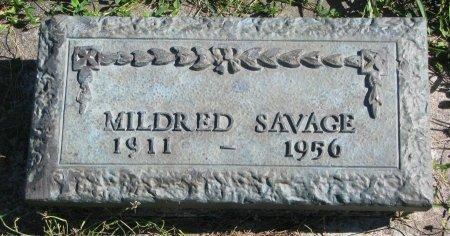 SAVAGE, MILDRED - Union County, South Dakota | MILDRED SAVAGE - South Dakota Gravestone Photos