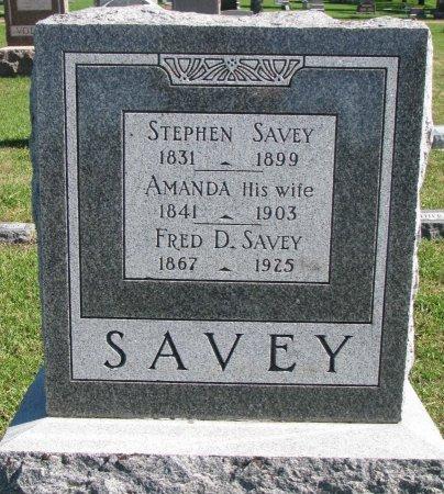 SAVEY, FRED D. - Union County, South Dakota | FRED D. SAVEY - South Dakota Gravestone Photos