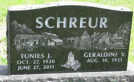 SCHREUR, GERALDINE VELORES - Union County, South Dakota | GERALDINE VELORES SCHREUR - South Dakota Gravestone Photos