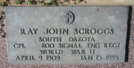 SCROGGS, RAY JOHN (WORLD WAR II) - Union County, South Dakota | RAY JOHN (WORLD WAR II) SCROGGS - South Dakota Gravestone Photos