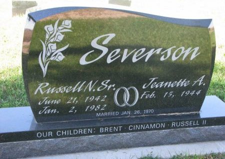 SEVERSON, JEANETTE A. - Union County, South Dakota | JEANETTE A. SEVERSON - South Dakota Gravestone Photos