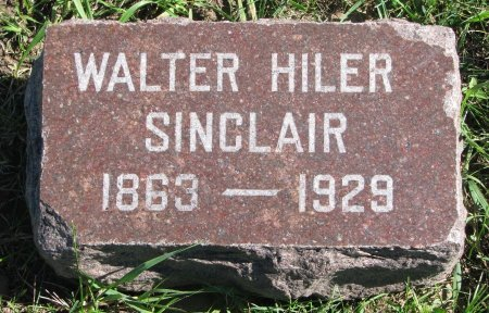 SINCLAIR, WALTER HILER - Union County, South Dakota | WALTER HILER SINCLAIR - South Dakota Gravestone Photos