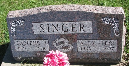 SINGER, DARLENE JUDITH - Union County, South Dakota | DARLENE JUDITH SINGER - South Dakota Gravestone Photos