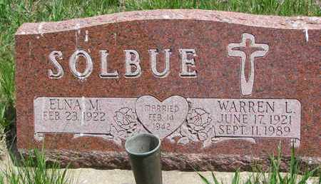 SOLBUE, ELNA M. - Union County, South Dakota | ELNA M. SOLBUE - South Dakota Gravestone Photos