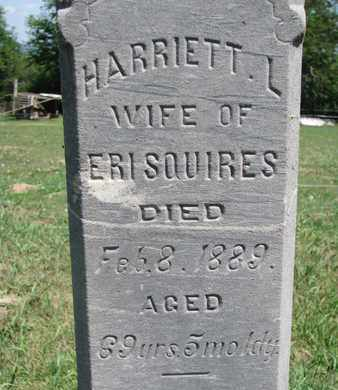 SQUIRES, HARRIETT L. (CLOSE UP) - Union County, South Dakota | HARRIETT L. (CLOSE UP) SQUIRES - South Dakota Gravestone Photos