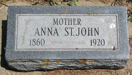 ST. JOHN, ANNA - Union County, South Dakota | ANNA ST. JOHN - South Dakota Gravestone Photos
