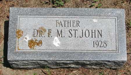 ST. JOHN, F.M. (DR.) - Union County, South Dakota | F.M. (DR.) ST. JOHN - South Dakota Gravestone Photos
