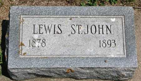 ST. JOHN, LEWIS - Union County, South Dakota   LEWIS ST. JOHN - South Dakota Gravestone Photos