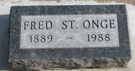 ST. ONGE, FRED - Union County, South Dakota | FRED ST. ONGE - South Dakota Gravestone Photos