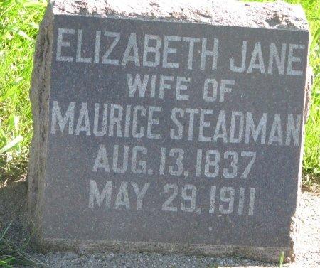 STEADMAN, ELIZABETH JANE - Union County, South Dakota | ELIZABETH JANE STEADMAN - South Dakota Gravestone Photos