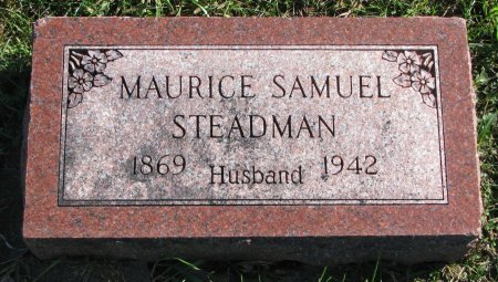 STEADMAN, MAURICE SAMUEL - Union County, South Dakota | MAURICE SAMUEL STEADMAN - South Dakota Gravestone Photos