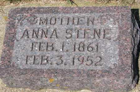 JOHNSON STENE, ANNA - Union County, South Dakota | ANNA JOHNSON STENE - South Dakota Gravestone Photos