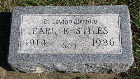 STILES, EARL E. - Union County, South Dakota | EARL E. STILES - South Dakota Gravestone Photos