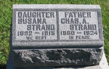 STRAND, SUSANA - Union County, South Dakota   SUSANA STRAND - South Dakota Gravestone Photos