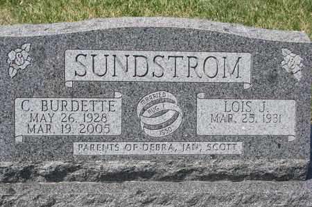 SUNDSTROM, C. BURDETTE - Union County, South Dakota | C. BURDETTE SUNDSTROM - South Dakota Gravestone Photos