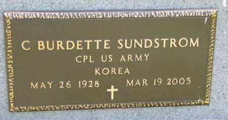 SUNDSTROM, C. BURDETTE (KOREA) - Union County, South Dakota | C. BURDETTE (KOREA) SUNDSTROM - South Dakota Gravestone Photos