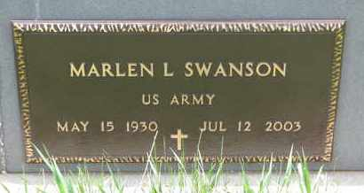 SWANSON, MARLEN L. (US ARMY) - Union County, South Dakota | MARLEN L. (US ARMY) SWANSON - South Dakota Gravestone Photos