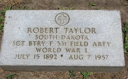 TAYLOR, ROBERT (WORLD WAR I) - Union County, South Dakota | ROBERT (WORLD WAR I) TAYLOR - South Dakota Gravestone Photos