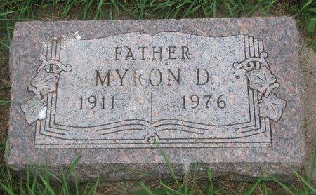 THEBERT, MYRON D. - Union County, South Dakota   MYRON D. THEBERT - South Dakota Gravestone Photos