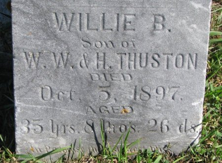 THURSTON, WILLIE B. (CLOSE UP) - Union County, South Dakota   WILLIE B. (CLOSE UP) THURSTON - South Dakota Gravestone Photos