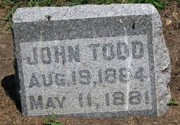 TODD, JOHN - Union County, South Dakota | JOHN TODD - South Dakota Gravestone Photos